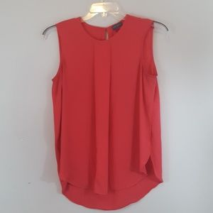Vince Camuto Peach Color Sleeveless Blouse Med